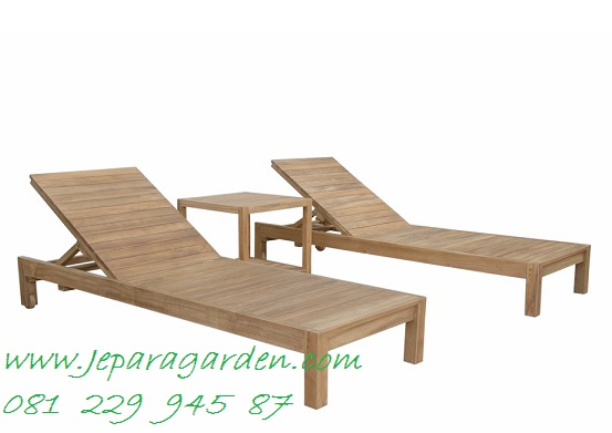 Lounger Chairs Seat Patio Teak Wood