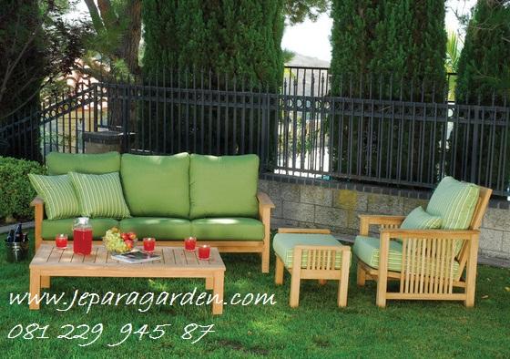 Jual Set Meja Kursi Tamu Kebun Taman Garden Outdoor Minimalis Jati Murah