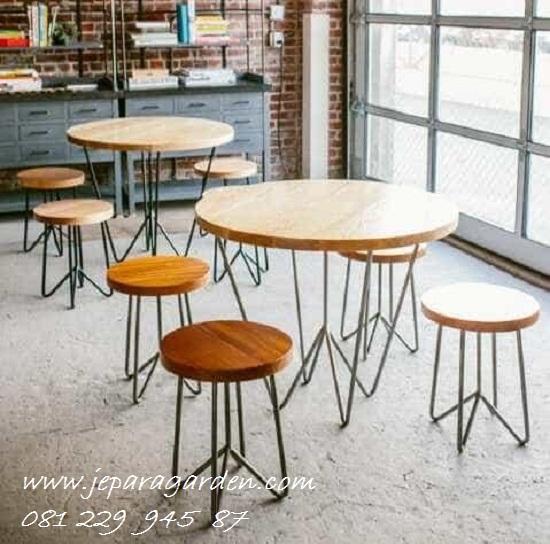 Jual Kursi Cafe Stool Besi Kayu Minimalis Harga Murah
