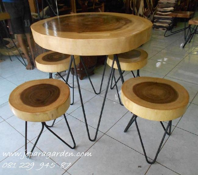 Jual Kursi Cafe Besi Taman Kayu Minimalis Harga Murah