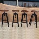 Jual Kursi Bar Bulat Putar Dari Besi Cafe Stool Murah
