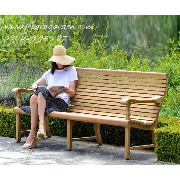 BANGKU KEBUN DARI KAYU JATI >> Jual Bangku Kebun Dari Kayu Jati Jepara Model Kursi Teras Taman Rumah Minimalis Harga Murah