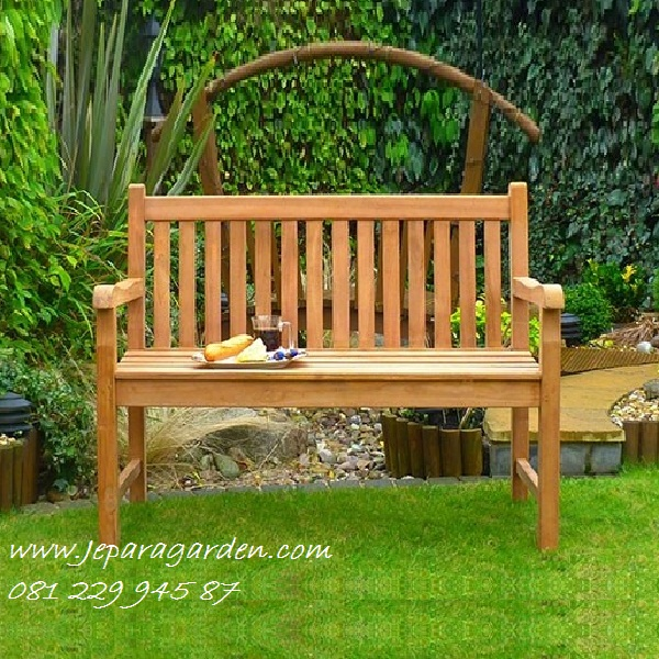 BANGKU KEBUN JEPARA >> Jual Bangku Kebun Jepara Model Kursi Teras Taman Rumah Kayu Jati Panjang Minimalis Harga Murah